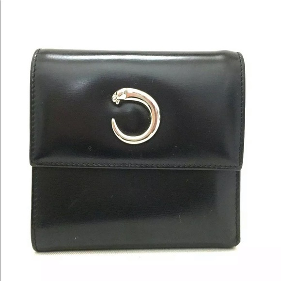 Cartier Handbags - Cartier Panther Small Compact Leather Wallet